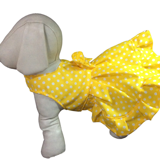 Pet Depot Yellow Polka Dots Dog Sundress