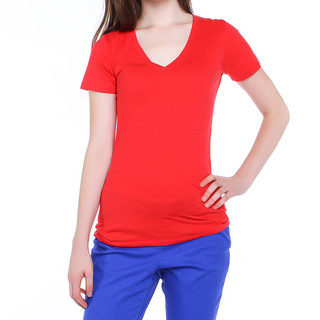 VICTORIA SECRET LDS TEE V NECK RED (44477)