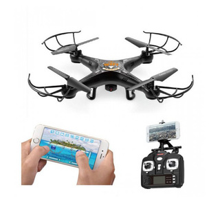 Quadcopter with 2.4GHz 4 Channel Remote Control And Wifi Camera - Black