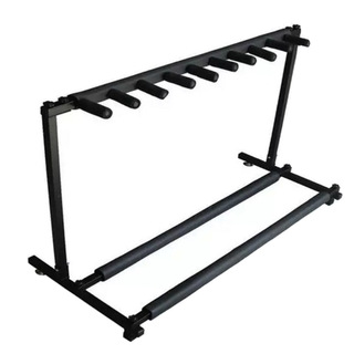 Thomson Multiple Instrument Display Rack Folding Padded Organizer 9 Guitar Stand