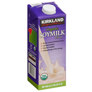 Kirkland Signature Organic Plain Soy Milk 946ml - 096619998609 (2285598)