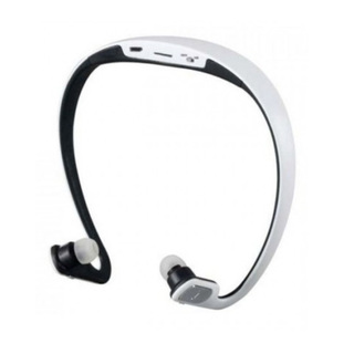AEC Sport Bluetooth Headset with FM Radio And Mp3 Player - White