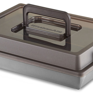 KitchenAid Cake Pan with Carrier Lid Gray KB6NSL9X13