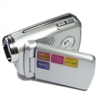 1.8 Inch LCD Cyber-cam Mini Dv Camcorder 12mp 4x Zoom - Silver