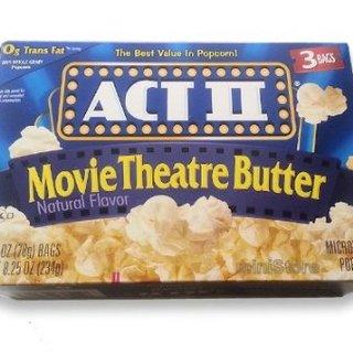 ACT II Movie Theatre Butter Natural Flavor Popcorn 8.25oz - 076150232165 (1235828)