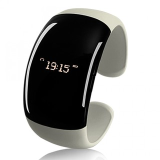 Bluetooth Bracelet with Time Display - Black/White