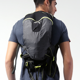 PUMA MEN'S PROGRESSIVE BACKPACK GLOW BLACK-LIME (072108 01)