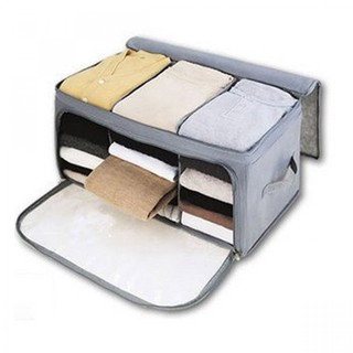 Foldable Clothes Bag Storage - Grey