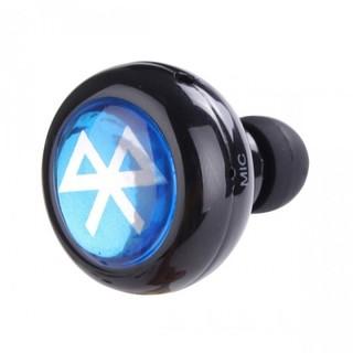 Mini Wireless Bluetooth Earphone Headset - Black (ROUNDED)