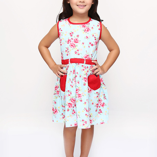 BASICS FOR KIDS GIRLS DRESS - BLUE (G905115-G905135)