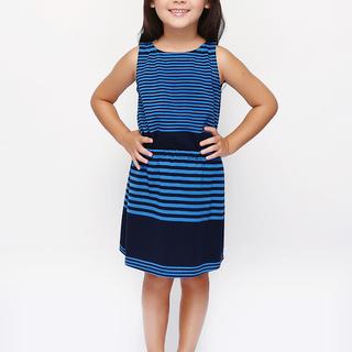 BASICS FOR KIDS GIRLS DRESS - BLUE (G905145-G905155)