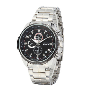 Newyork Army NYA7659 Men's Stainless Strap Black Dial Watch