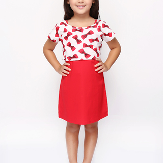 BASICS FOR KIDS GIRLS DRESS - RED (G905162-G905182)