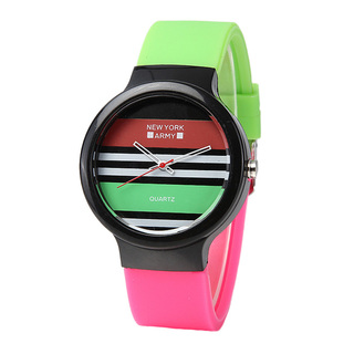 Newyork Army Paint Strips Silicon Watch