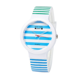 Newyork Army Paint Me Blue Green Silicon Watch
