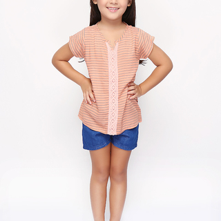 BASICS FOR KIDS GIRLS BLOUSE - ORANGE (G307239-G307249)