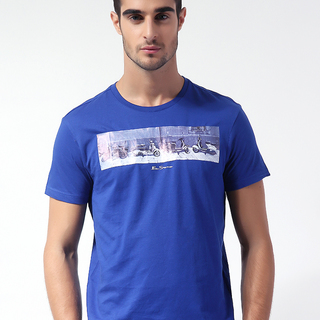 BEN SHERMAN MEN'S ROUND NECK T-SHIRT BLUE (69015)