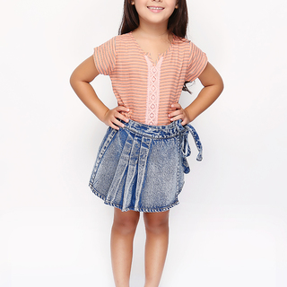 BASICS FOR KIDS GIRLS SKIRT - BLUE (G704685-G704705)