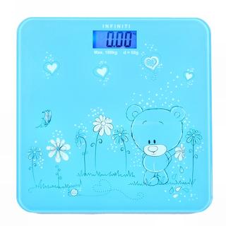 Infiniti Digital Tempered Glass Slim Bathroom Scale DBS-006 Blue Bear