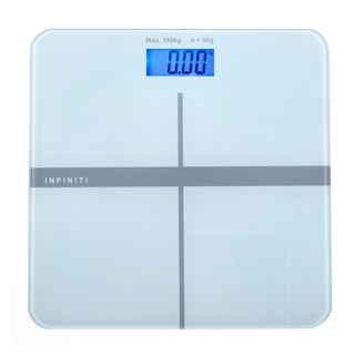 Infiniti Digital Tempered Glass Slim Bathroom Scale DBS-003 LIGHT-BLUE