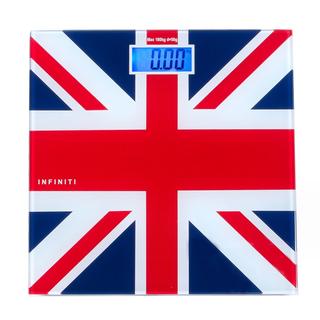 Infiniti Digital Tempered Glass Slim Bathroom Scale DBS-002 Red-Blue