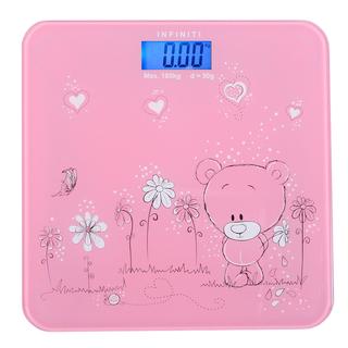 Infiniti Digital Tempered Glass Slim Bathroom Scale DBS-005 Pink