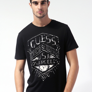 GUESS MEN'S ROUND NECK T-SHIRT BLACK (AKE160469219)