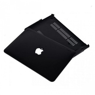 13.3-inch Macbook Air Protective Full Body Case with Apple Logo - Transparent Black
