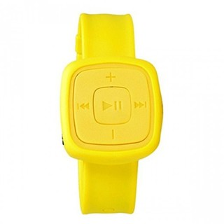 Silicone Watch Design Card Reader MP3 Player - Yellow
