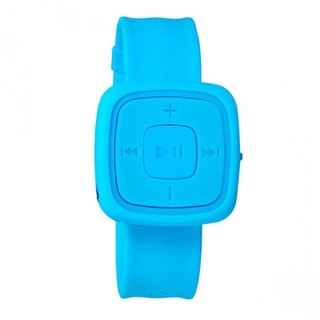 Silicone Watch Design Card Reader MP3 Player - Blue