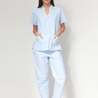 CHINESE COLLAR SCRUB SUIT