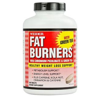 Weider Fat Burner with Chromium Picolinate and Green Tea Tablet, Bottle of 300