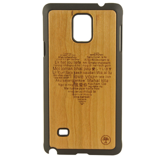 BAUM Love Cherry Wood Edition Case for Galaxy Note 4