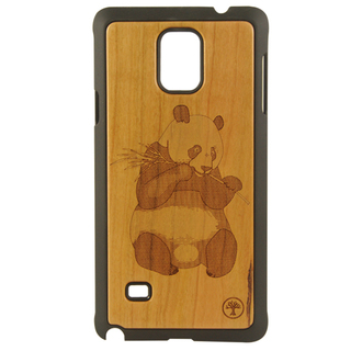 BAUM Panda Cherry Wood Edition Case for Galaxy Note 4