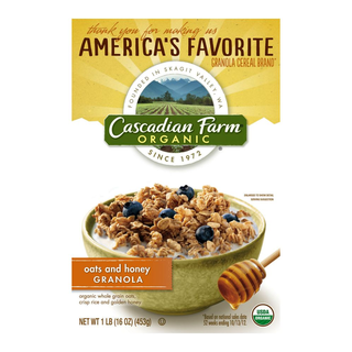 Cascadian Farm Organic Oats&Honey Granola Cereal 453g - 021908743318 (2585294)
