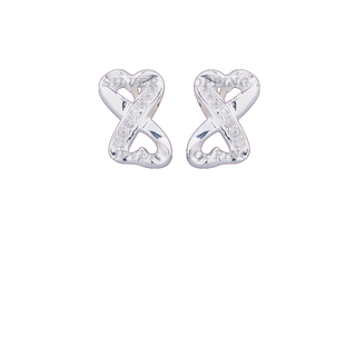 Silver First Sterling Silver 925 Silver Stud Earrings G255