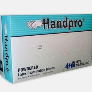 Handpro Exam Gloves (Powdered) , Box of 100 pieces - AM006