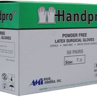 B1T1 INTRODUCTORY PROMO Handpro Surgical Gloves (Powder-Free), Box of 50 pairs - AM011