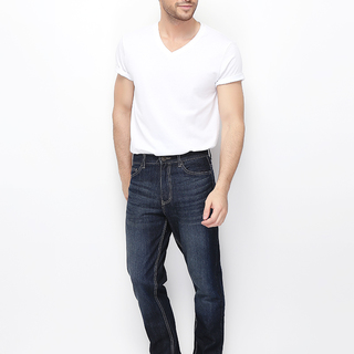 MEN'S DENIM MID RISE TAPERED JEANS (RINSE WASHED) - 01115532-79