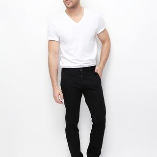 MEN'S TWILL LOW RISE SLIM TAPERED PANTS (SIGNATURE BLACK) - 01116617-09