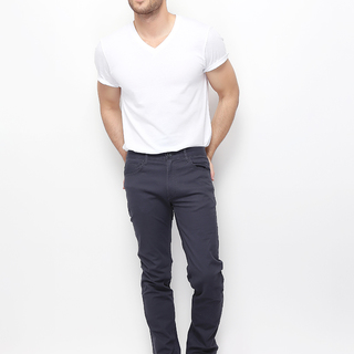 MEN'S TWILL LOW RISE MODERN TAPERED PANTS (SIGNATURE GREY) - 01116047-08