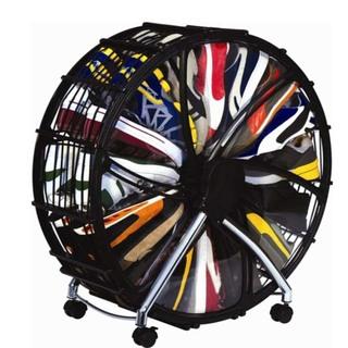 56cm 12 Pairs Shoe Wheel Storage - Black