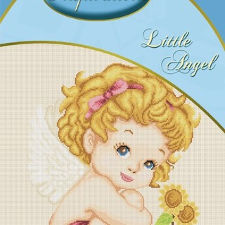 DMC INSPIRATIONS CROSS-STITCH KIT: LITTLE ANGEL (ECK-004)