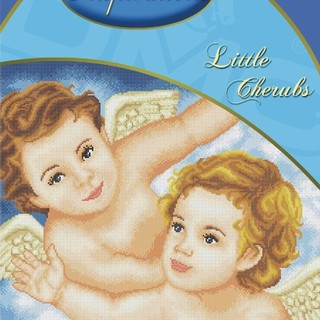 DMC INSPIRATIONS CROSS-STITCH KIT: LITTLE CHERUBS (ECK-007)