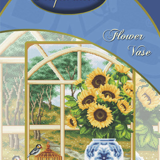 DMC INSPIRATIONS CROSS-STITCH KIT: FLOWER VASE (ECK-015)