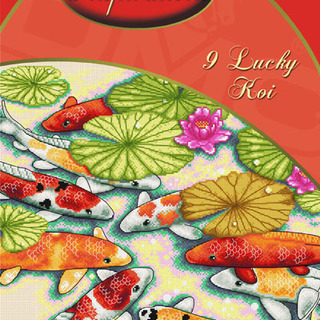 DMC INSPIRATIONS CROSS-STITCH KIT: 9 LUCKY KOI (ECK-021)