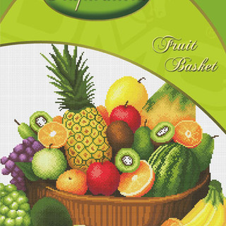 DMC INSPIRATIONS CROSS-STITCH KIT: FRUIT BASKET (ECK-022)