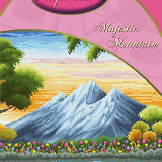 DMC INSPIRATIONS CROSS-STITCH KIT: MAJESTIC MOUNTAIN (ECK-024)