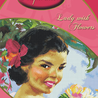 DMC INSPIRATIONS CROSS-STITCH KIT: LADY WITH FLOWERS (AMORSOLO) (ECK-030)