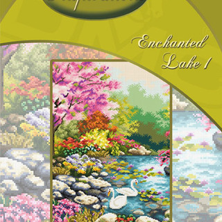 DMC INSPIRATIONS CROSS-STITCH KIT: ENCHANTED LAKE 1 (ECK-031)